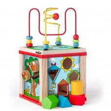 Woody Дидактически цветен образователен куб