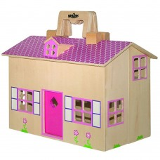 Woody Doll house Trendy fold and go