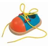 Woody Tie-Up Wooden Shoe