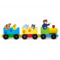 Woody Railway Set with animals