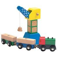 Woody Crane with train