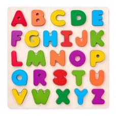 Woody Дървен пъзел Английската азбука, главни букви