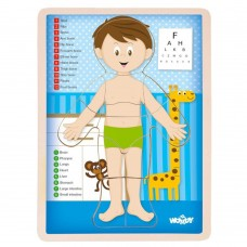 Woody Wooden Puzzle Human Body, Boy