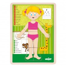 Woody Wooden Puzzle Human Body, Girl