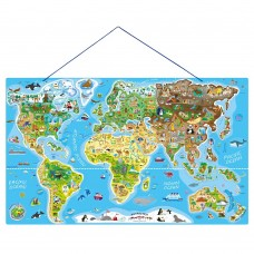 Wooden Magnetic Map Of The World Puzzle