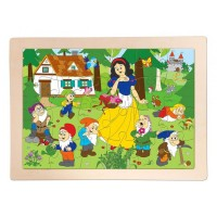 Woody Wooden Puzzle Snow White