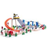 Woody Train Set 130 pcs