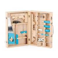 Woody Toys Tools in a Wooden Box