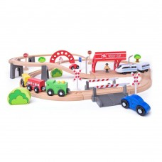 Woody Railway Set with a Battery Powered Engine