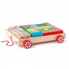 Woody Cart with Blocks / ABC Stamps