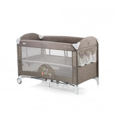Chipolino Baby Play pen and crib with drop side Merida frappe