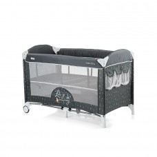 Chipolino Baby Play pen and crib with drop side Merida ash
