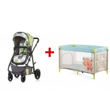 Chipolino Baby stroller and carry cot 2 in 1 Milo truffle
