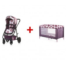 Chipolino Baby stroller and carry cot 2 in 1 Milo flowers