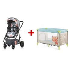 Chipolino Baby stroller and carry cot 2 in 1 Milo ash
