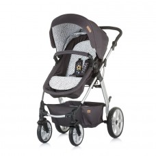 Chipolino бебешка комбинирана количка Фама, Сив гранит