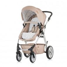 Chipolino бебешка комбинирана количка Фама, Карамел