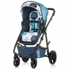 Chipolino Baby stroller and carry cot 2 in 1 Milo marine blue