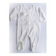 Caramell baby Romper Long sleeves with lace