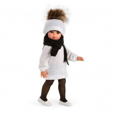 Asi Doll Sabrina with white knitted hat and dress