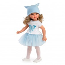 Asi Doll Sabrina with blue tulle skirt and butterfly shirt