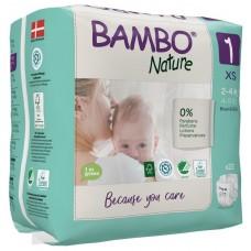 Bambo Nature Eco nappies XS, 22pcs. - size 1