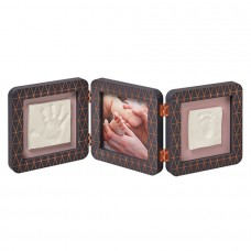 Baby Art Double Print Frame Dark Grey Copper
