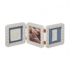 Baby Art Отпечатък за ръчичка и краче (квадратен) White Copper