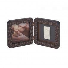 Baby Art Print Frame Dark Grey Copper