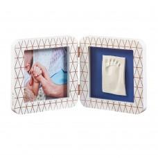 Baby Art Print Frame White Copper