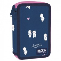 Back Up 2-layer Pencil Case with supplies DW 14 Adventure