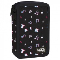 Back Up 2-layer Pencil Case with supplies DW 16 Music