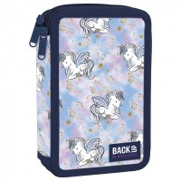 Back Up 2-layer Pencil Case with supplies DW 25 Sweet Unicorn