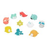 Badabulle Baby Bath Toys, set of 10