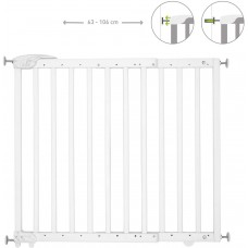 Badabulle Deco Pop Extendable Safety Gate, Pressure Fit or Screws, White