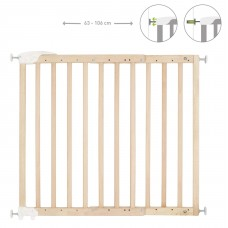 Badabulle Deco Pop Extendable Safety Gate, Pressure Fit or Screws, Natural