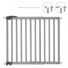 Badabulle Deco Pop Extendable Safety Gate, Pressure Fit or Screws, Grey