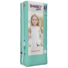 Bambo Nature Eко пелени за еднократна употреба XL Tall Pack 12-18кг. 44 броя, размер 5