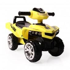 Moni Детска кола за яздене и бутане ATV No Fear, Жълта
