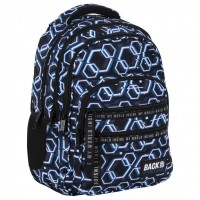 Back Up School Backpack M 53 Hexagons