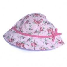 Baby Summer Hat Pink Flower