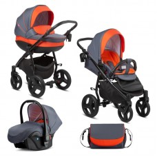 Buba Baby stroller 3 in 1 Bella Pewter - Orange