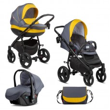 Buba Baby stroller 3 in 1 Bella Pewter - Yellow