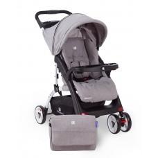 Kikkaboo Airy Baby Stroller  Light Grey