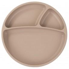 Minikoioi Silicone Baby Plate Portions Bubble Beige