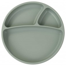 Minikoioi Silicone Baby Plate Portions River Green
