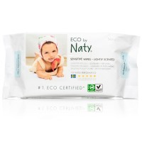 Naty Lightly Scented Wet Wipes 56 pcs