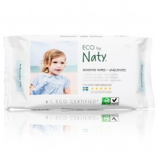 Naty Eco Sensitive Wipes, Unscented