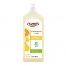 Friendly Organic Препарат за измиване на съдове с портокалово масло 1000 ml