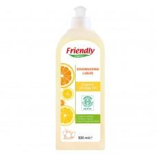 Friendly Organic Препарат за измиване на съдове с портокалово масло 500 ml